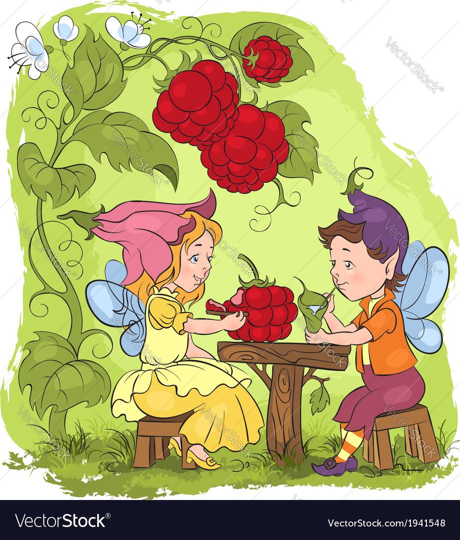 Elves cartoon fairytale