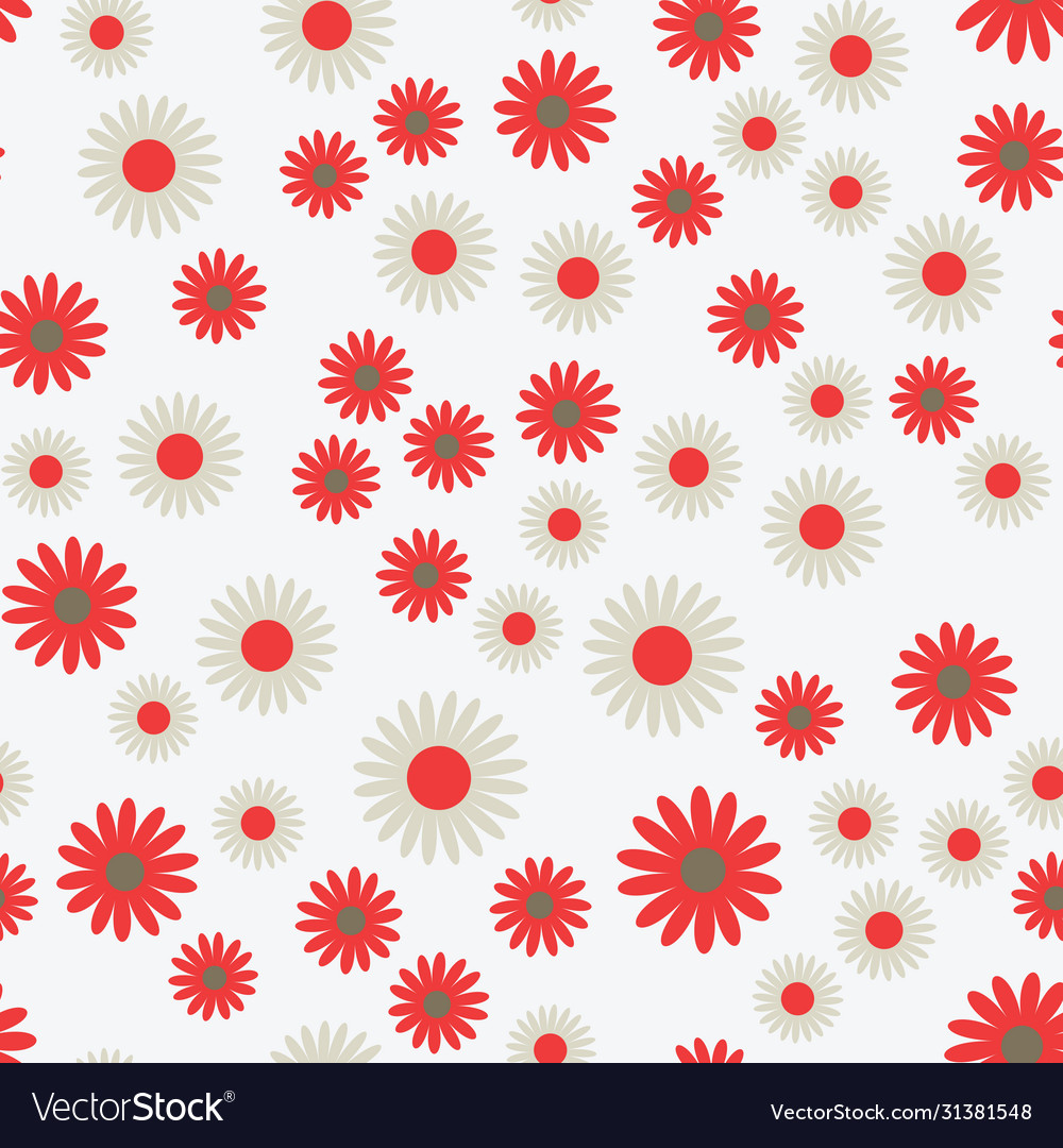 Flat flowers seamless pattern