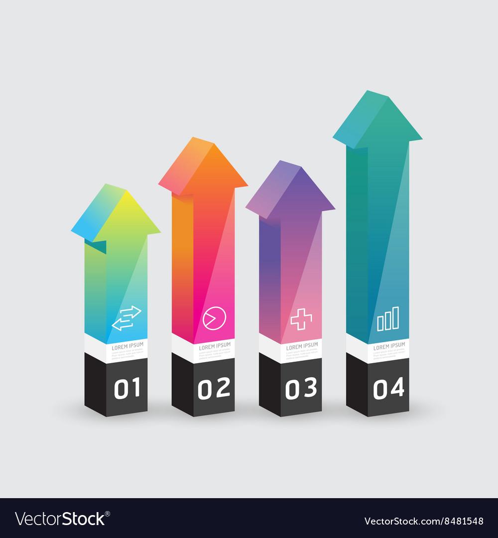Infographic template Modern arrow box Design vector image
