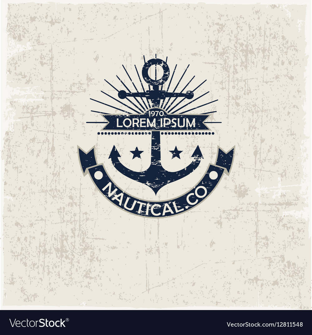 Inspirational themplate of Nautical Style Logo