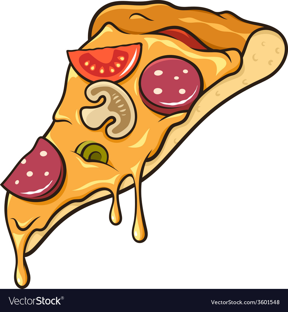 pizza slice royalty free vector image vectorstock rh vectorstock com pizza slice vector free download pizza slice vector free