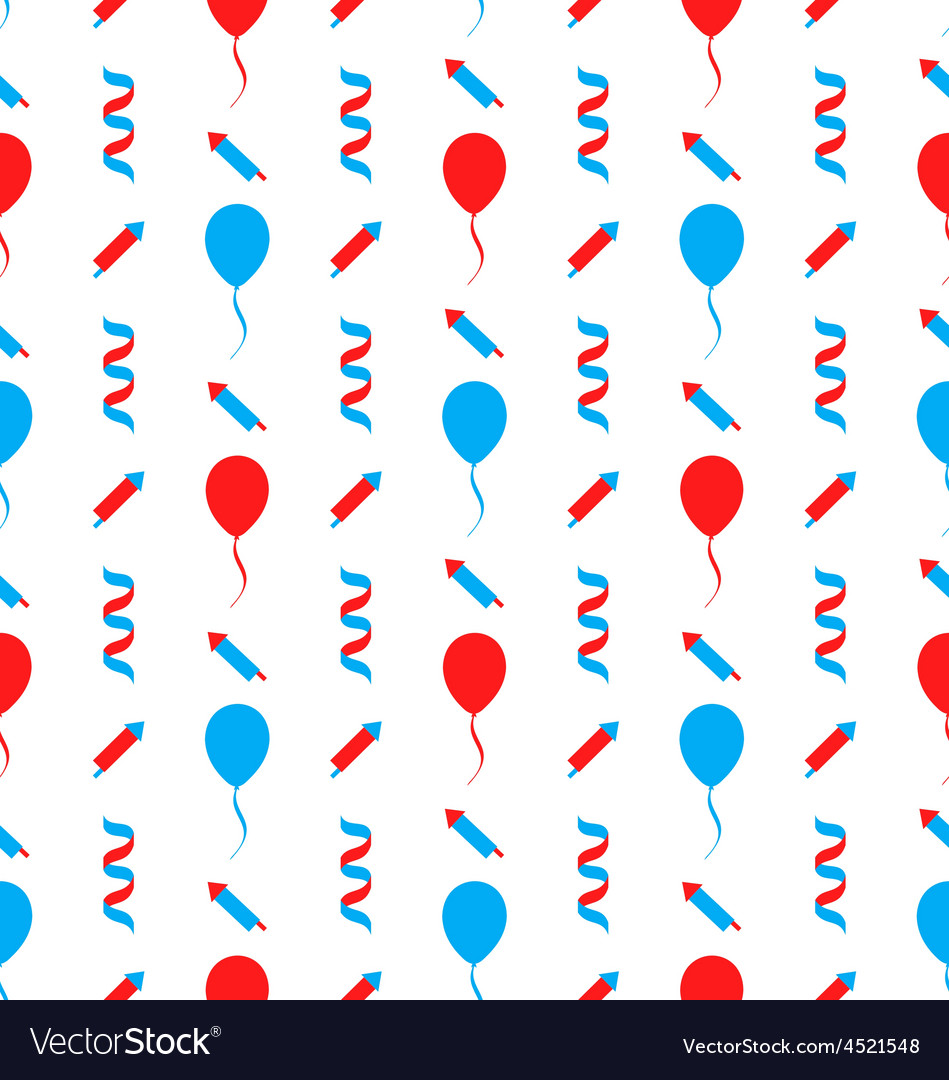 Seamless Texture for Independence Day of America vector image