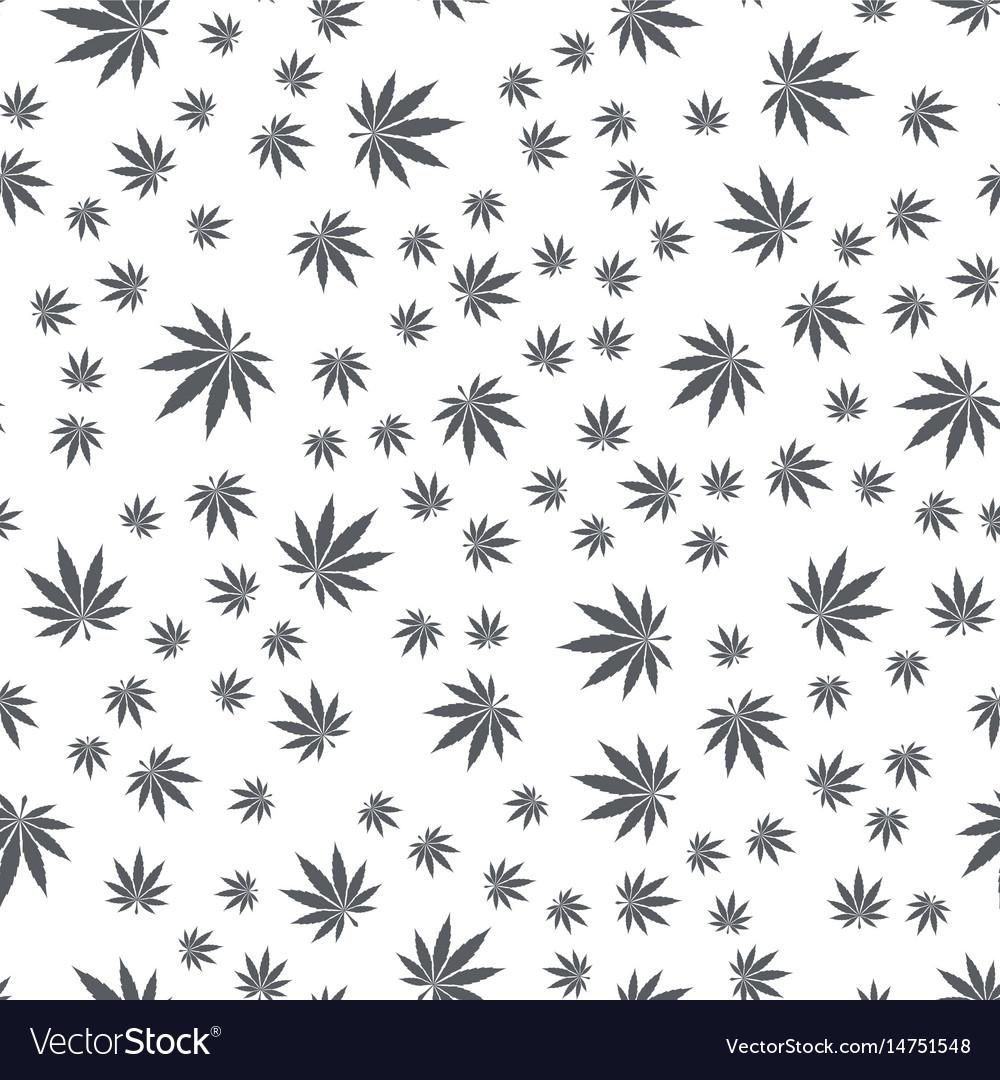 Seamless texture marijuana black