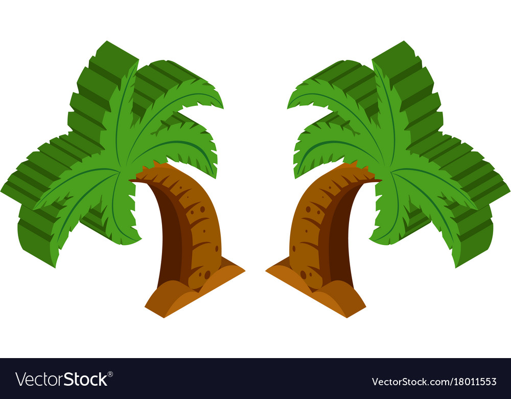 3d design for coconut tree