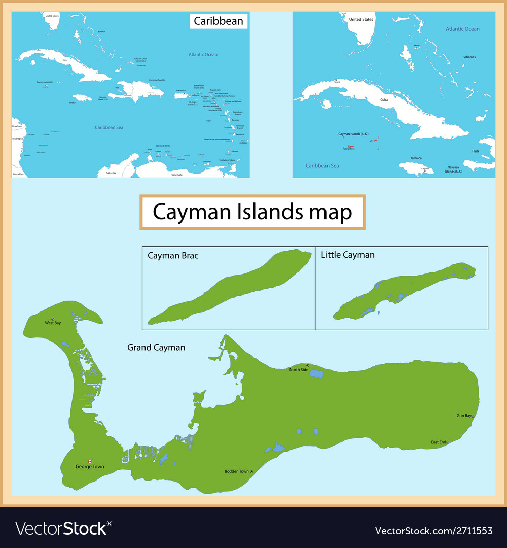 graphic regarding Printable Map of Grand Cayman named Cayman Islands map