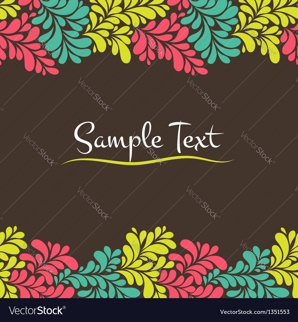 Colorful abstract seamless frame