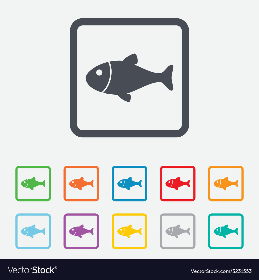 Fish sign icon Fishing symbol