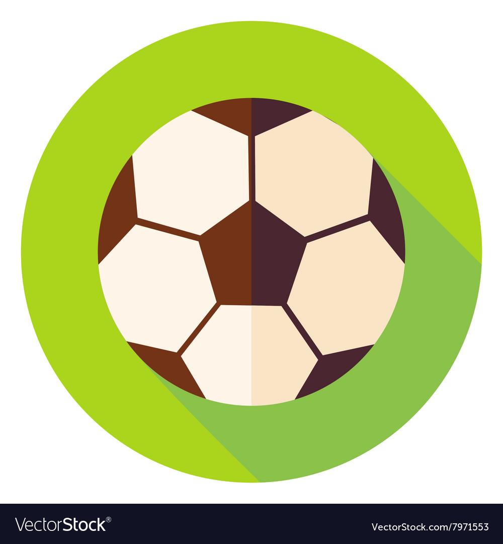 Football Soccer Ball Circle Icon Royalty Free Vector Image