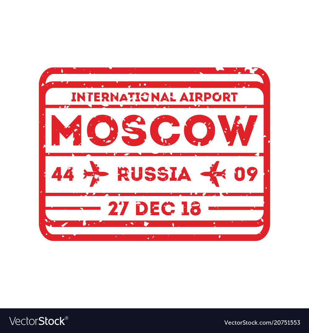 Moscow city visa stamp on passport