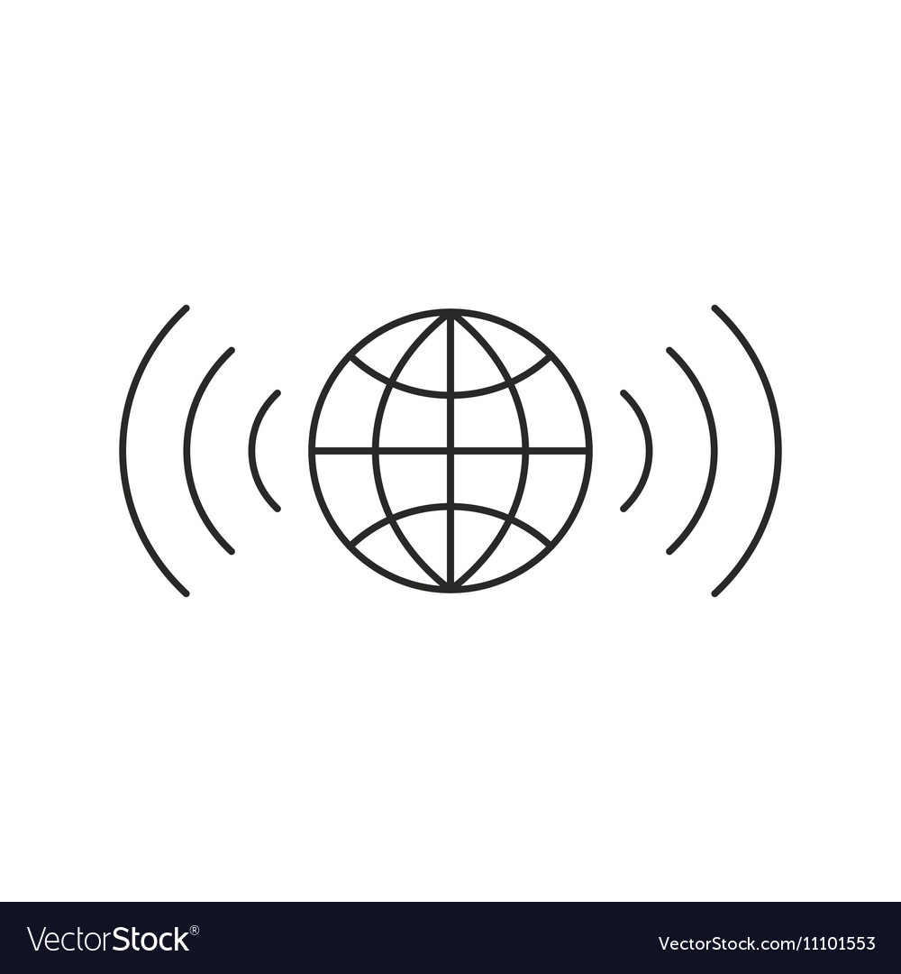 Wireless icon outline