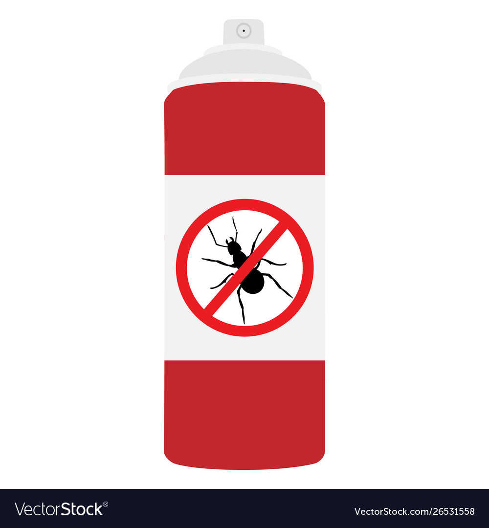 Ant repellent spray bottle icon ant insect stop