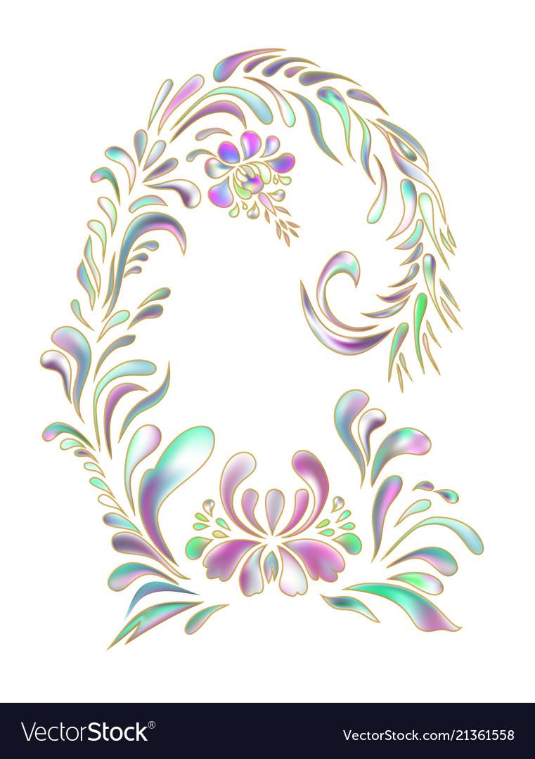 Beautiful ornamental flower vintag