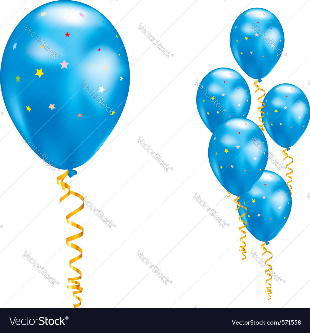 Blue party balloon