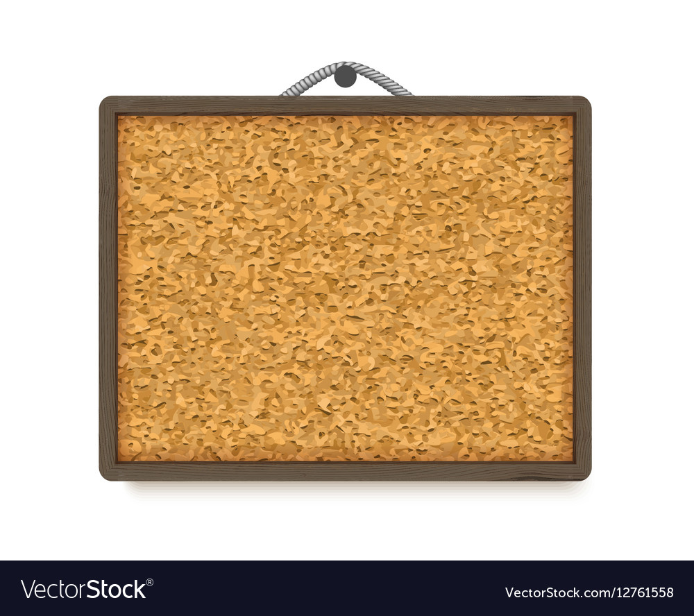 Cork board with wooden frame