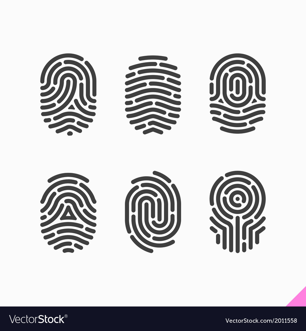 Fingerprint icons set vector image