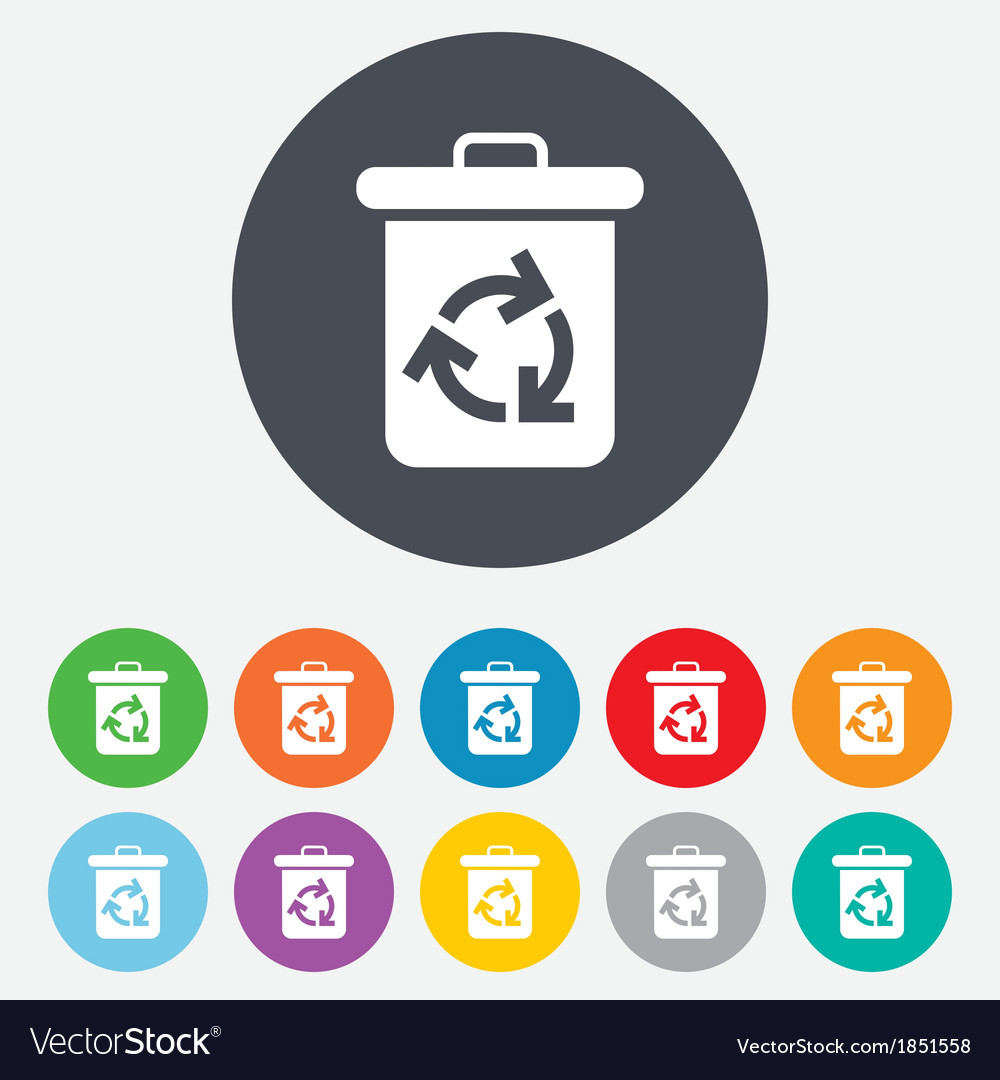 Recycle bin icon Reuse or reduce symbol