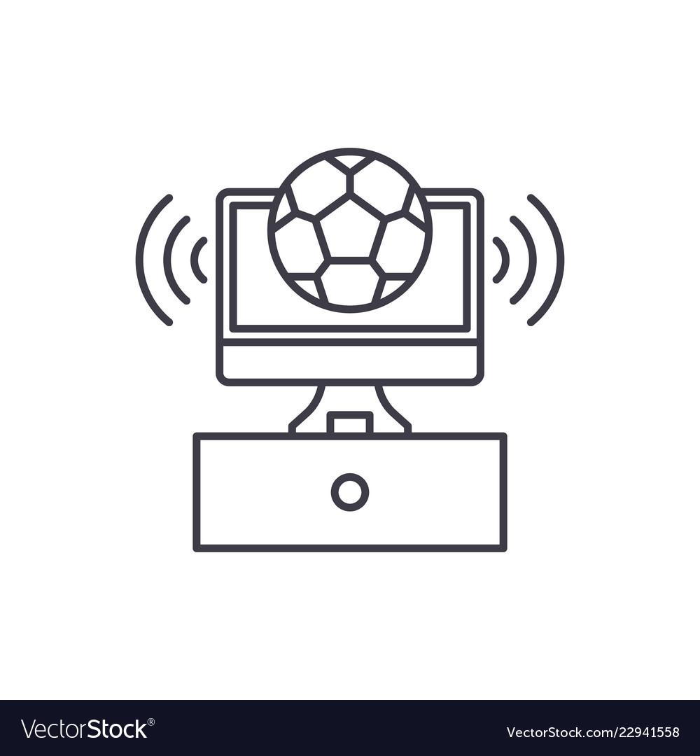 Sports broadcast line icon concept sports