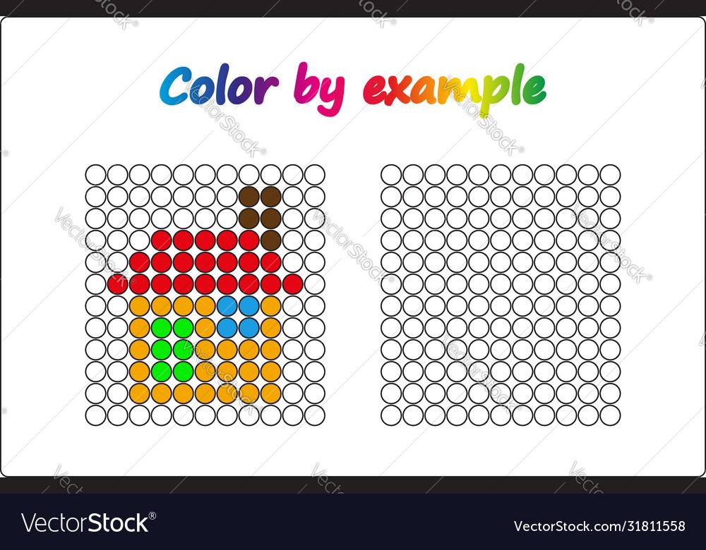 Worksheet Apple - Puzzle Task Game For Preschool Vector Image