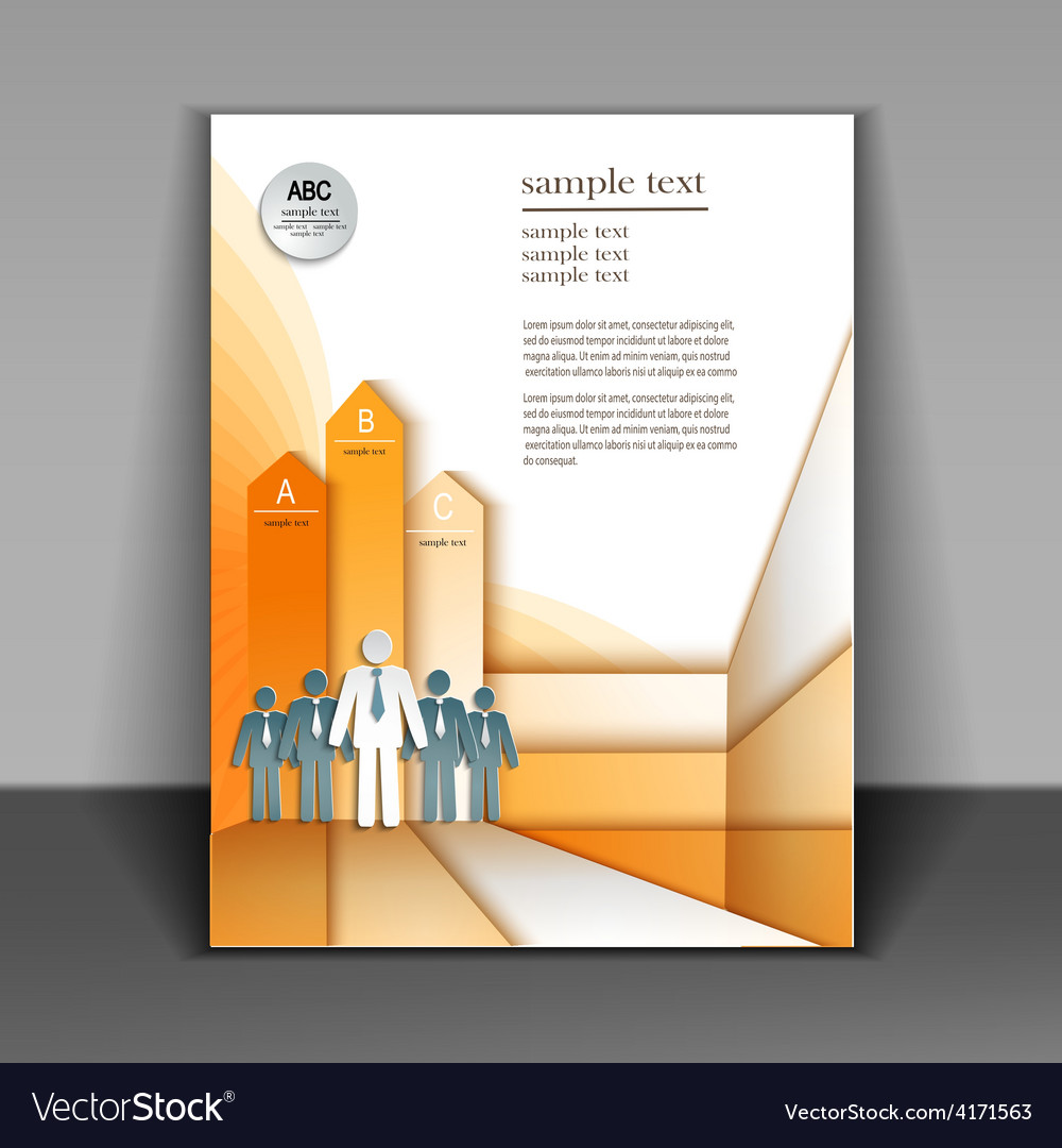 business booklet layout royalty free vector image