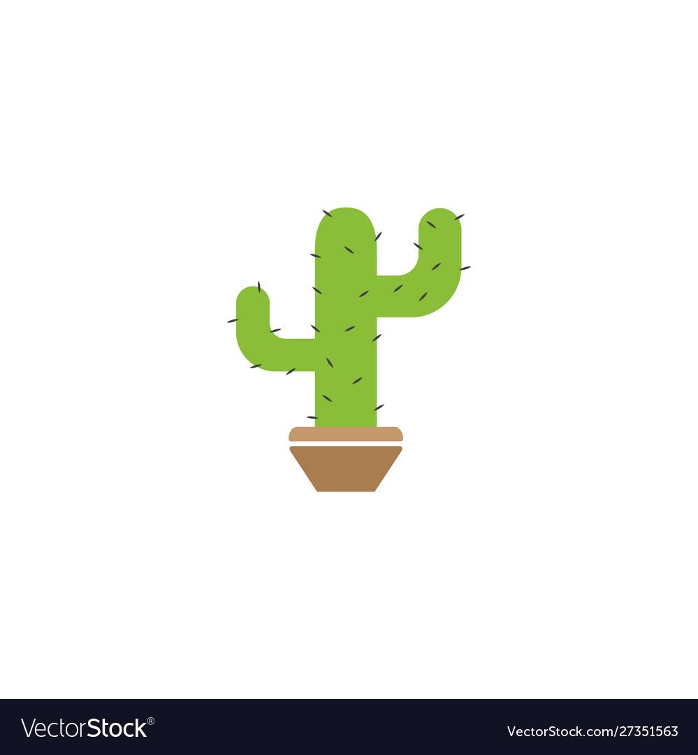 Cactus plant graphic design template isolated
