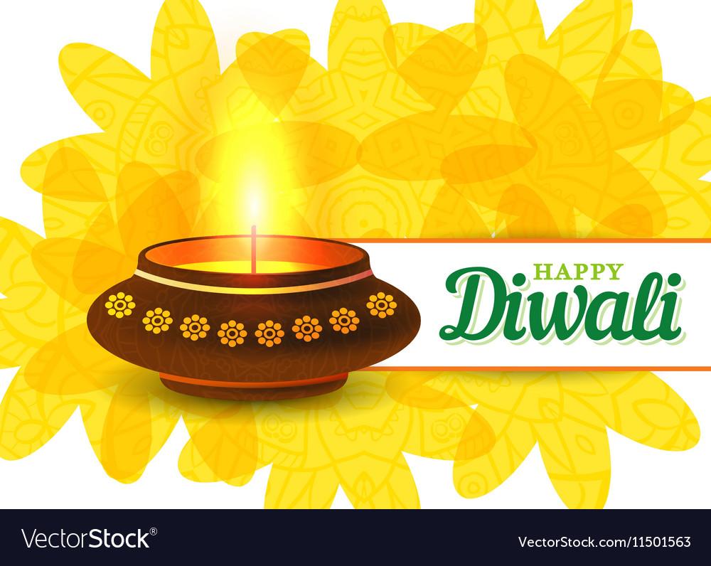 Card design of traditional Indian festival Diwali