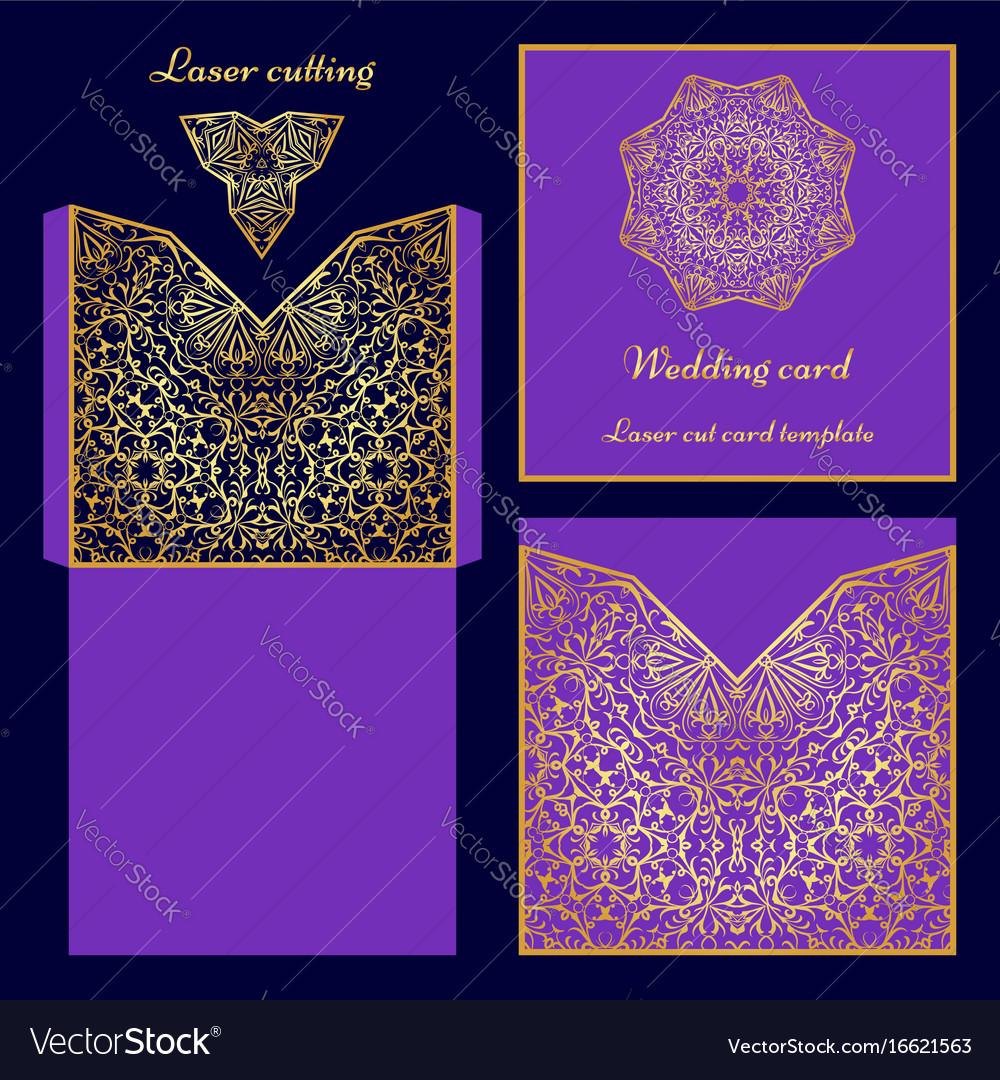 Laser cut card template