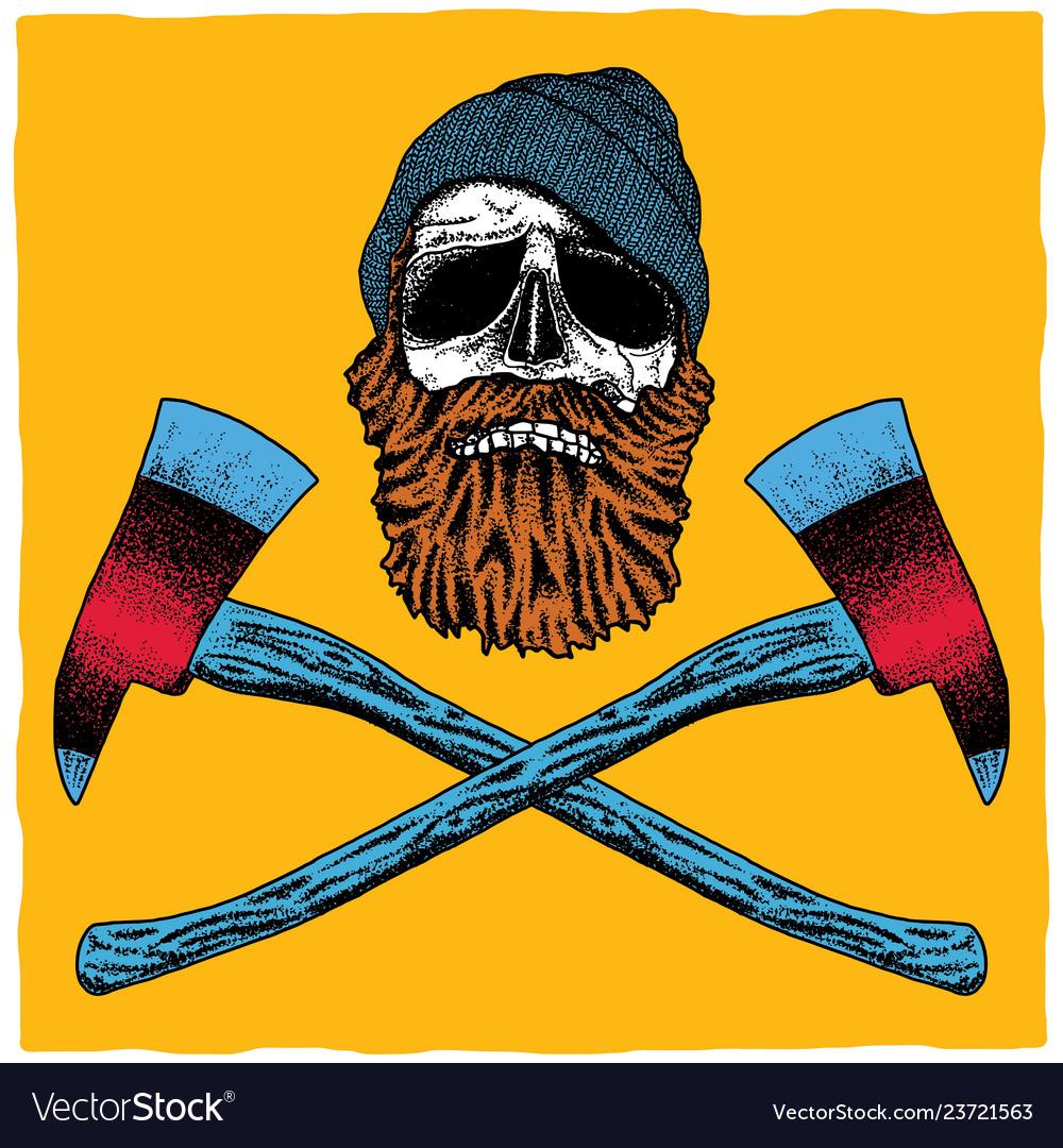 Lumberjack skull poster