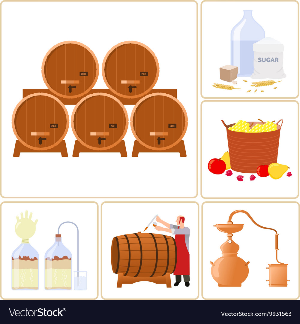 Moonshine and whiskey vector image