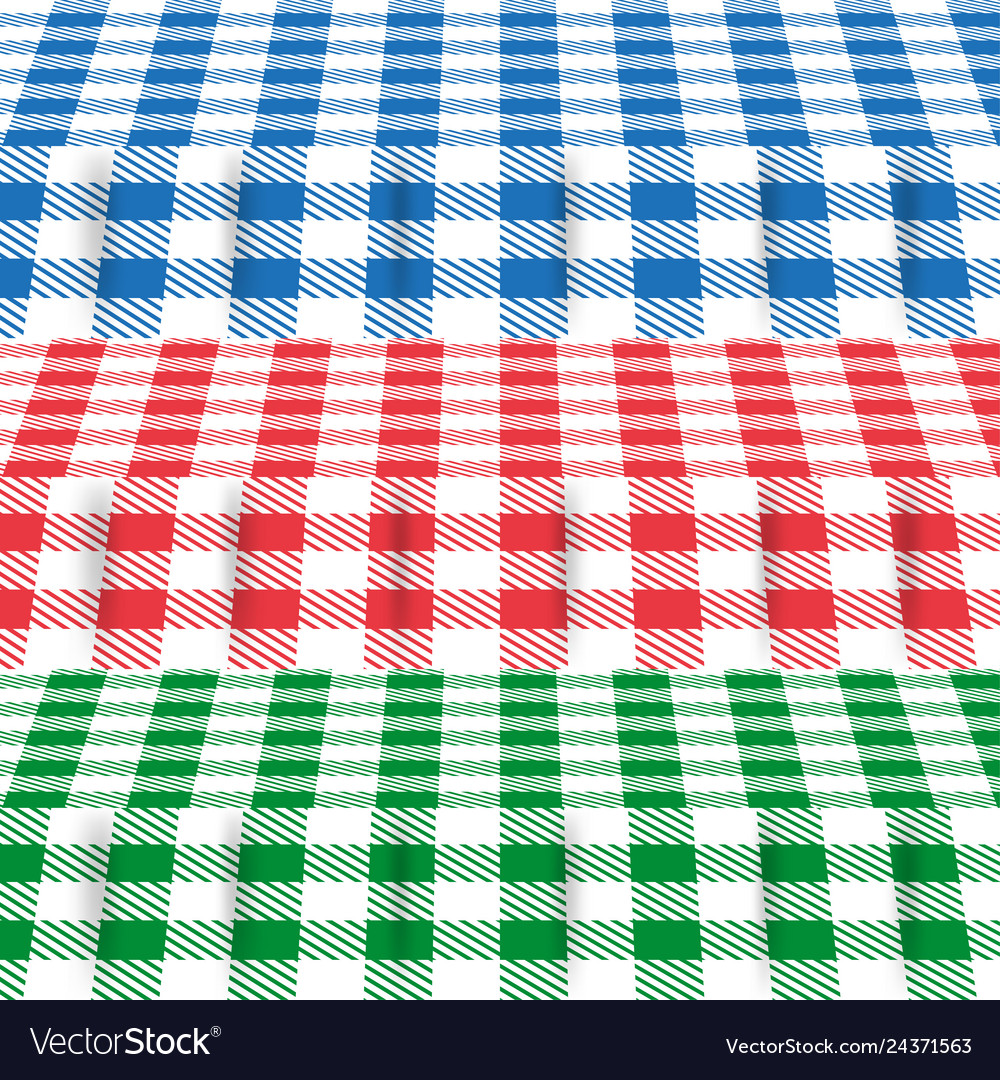 Set of colored tablecloths