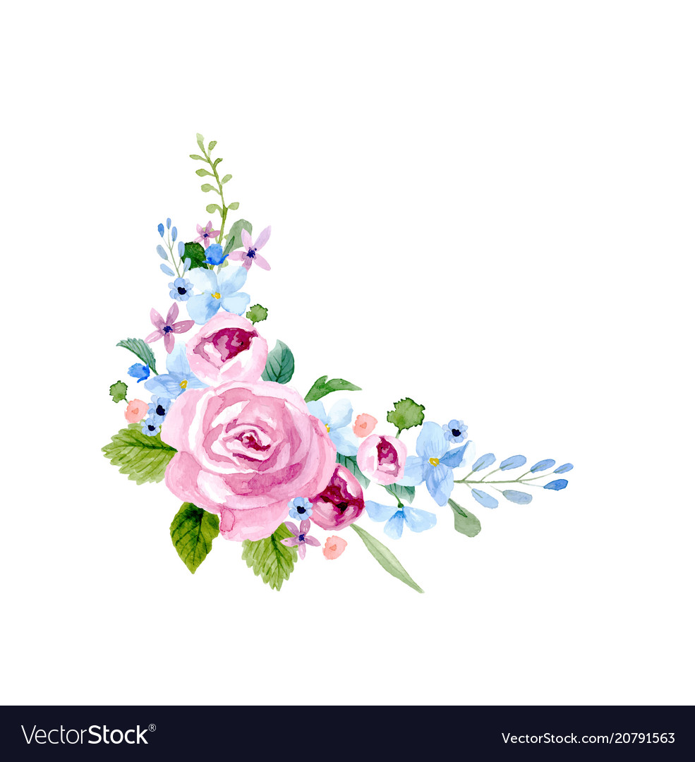 Set of the floral arrangements vector image