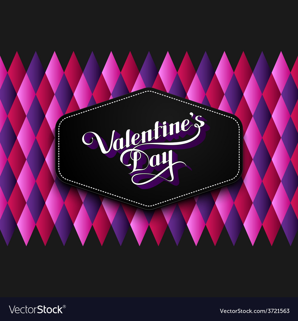 Valentines Day retro label