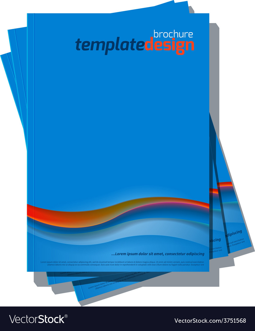 Blue Abstract Cover Design Template vector image