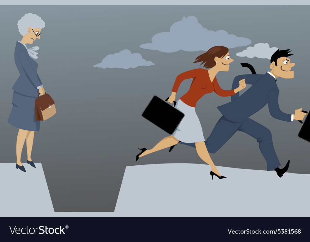 Career gap for older woman vector image
