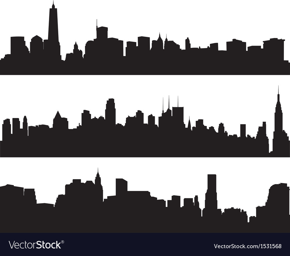 city skylines silhouette royalty free vector image