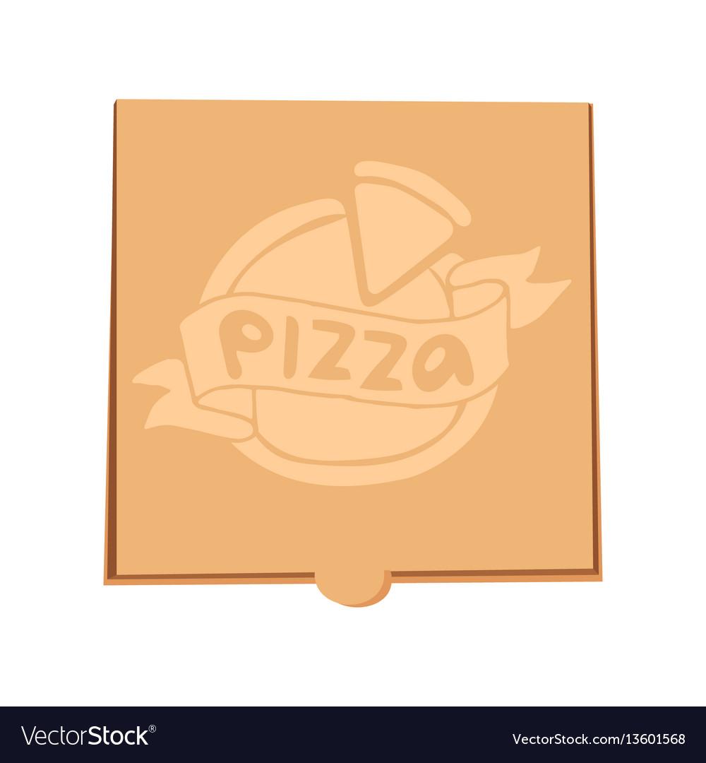 Closed pizza box delivery