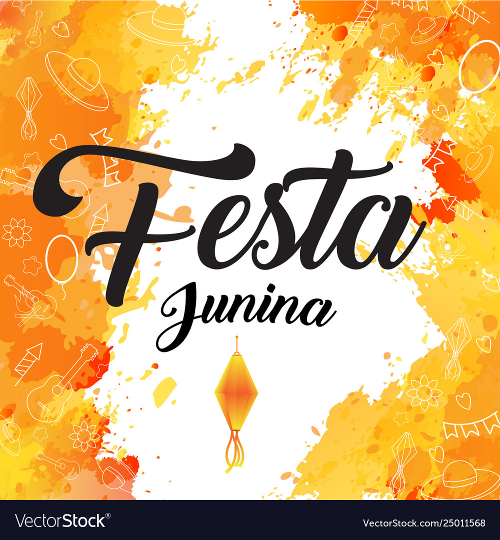 Festa junina orange flash brush backgrund