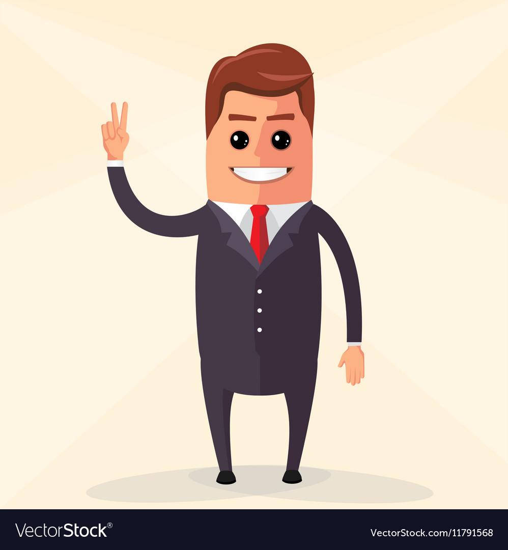 Flat design Business man