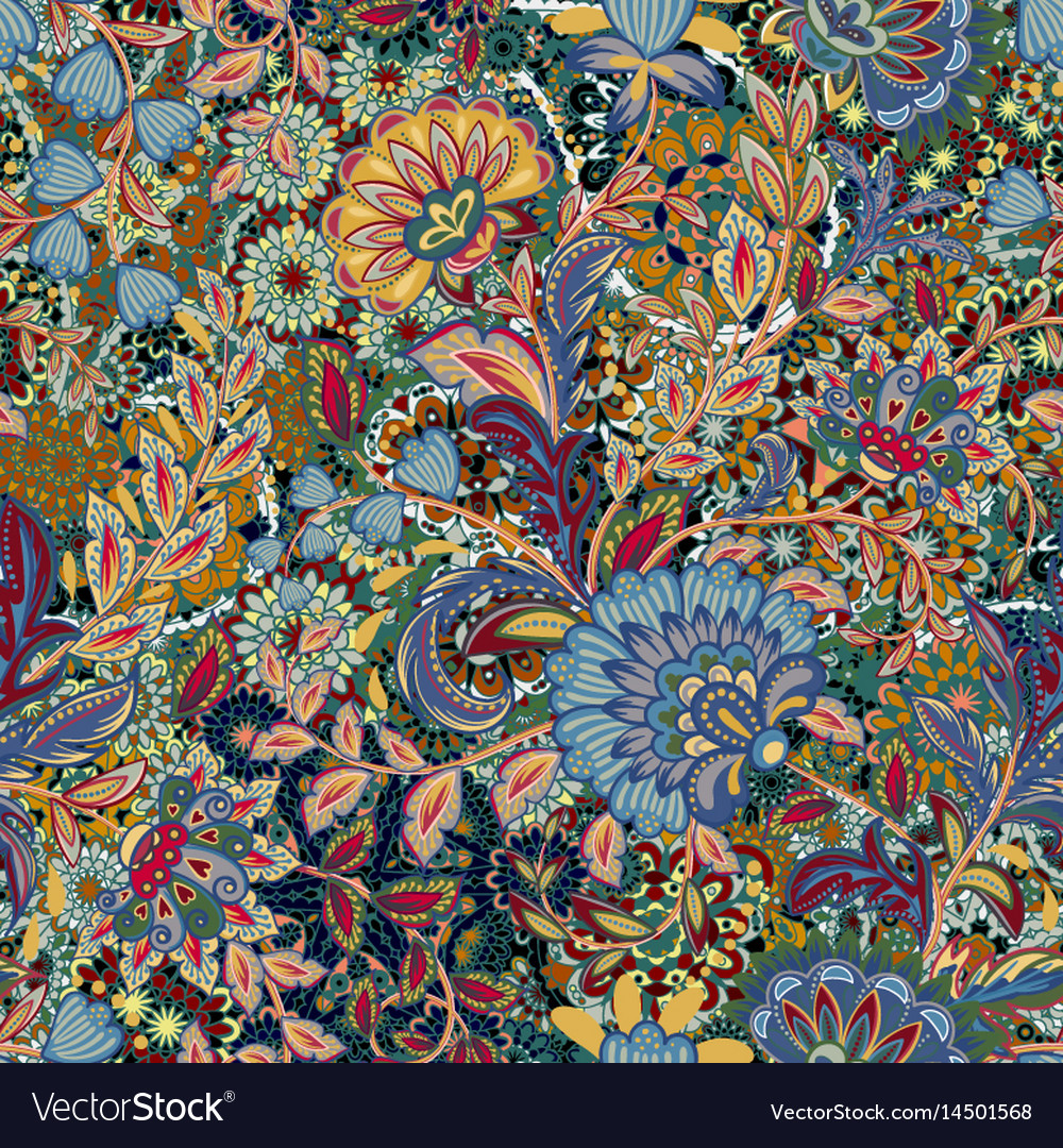 Incredible color flower pattern multicolored vector image