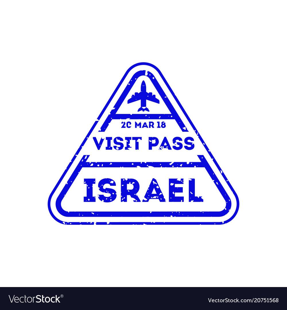 Israel city visa stamp on passport