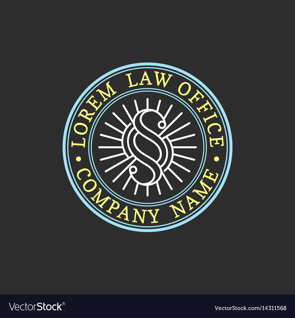 Law office logo vintage attorney advocate