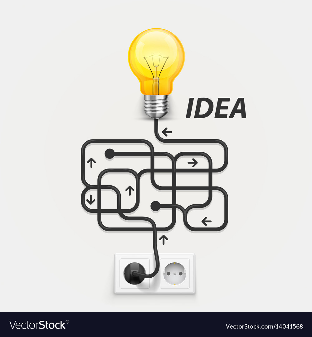 Maze cable outlet ideas vector image