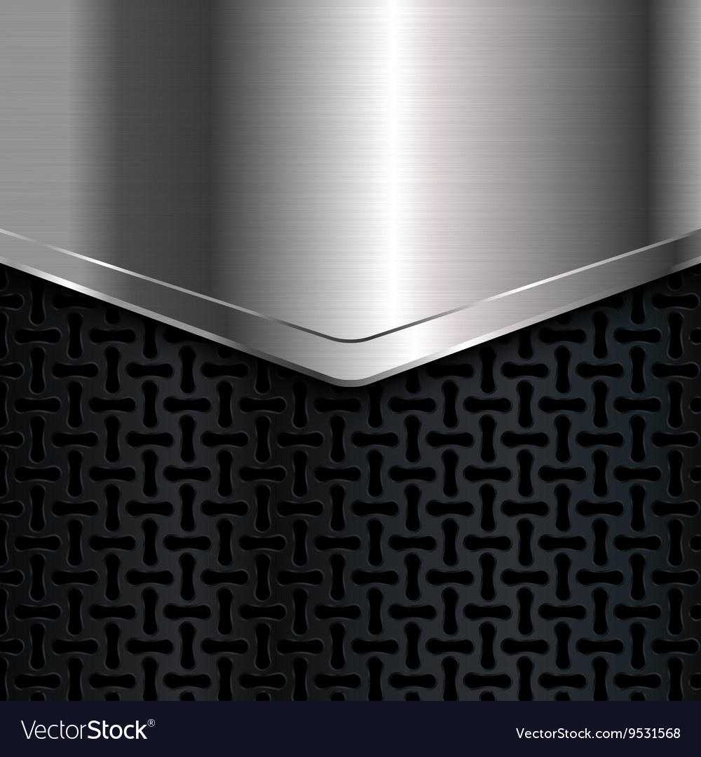 Metal background Black and silver background Vector Image