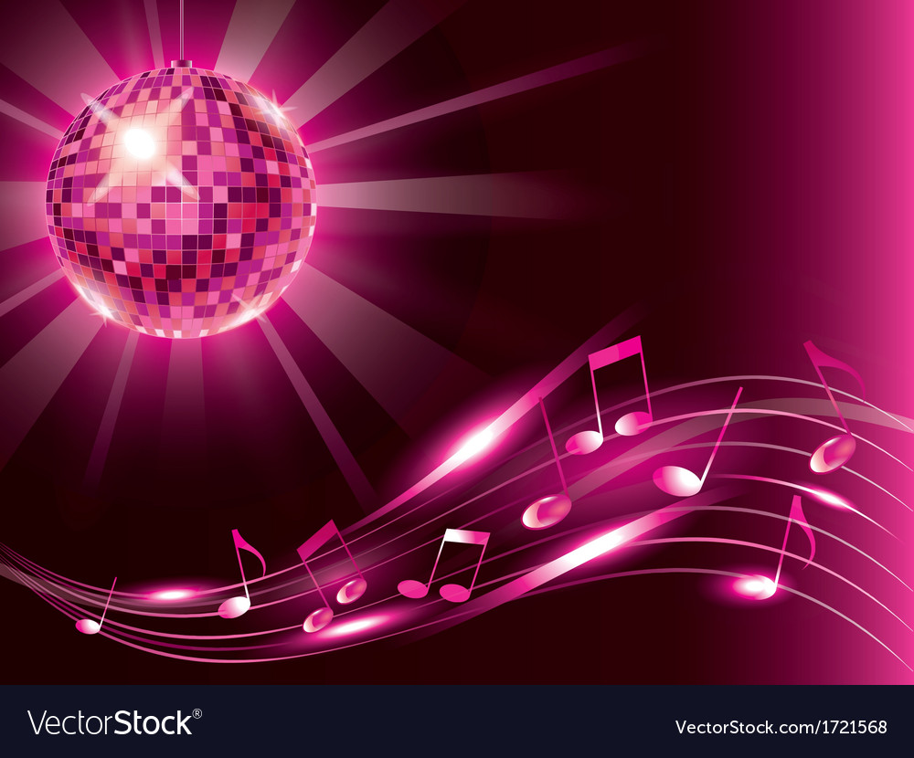 Music background disco ball