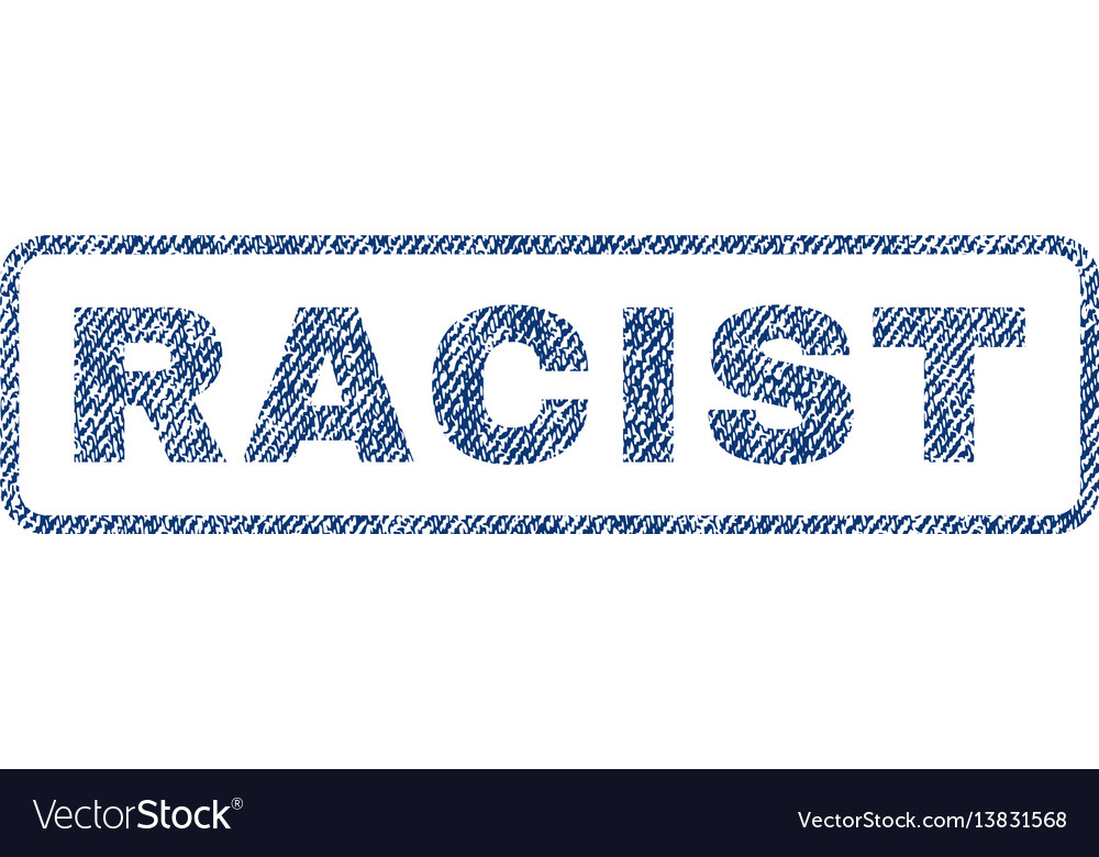 Racist textile stamp vector image