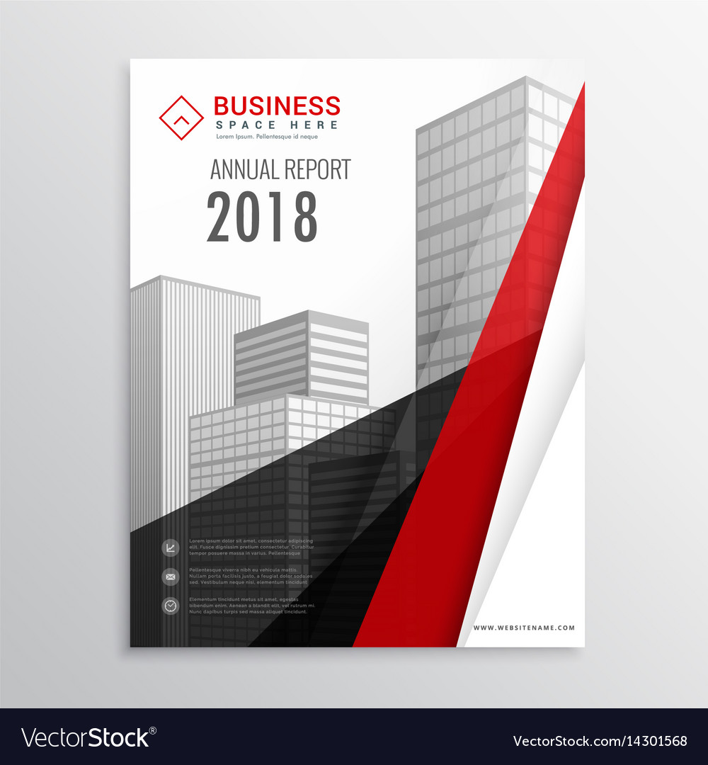 Red and black brochure flyer template