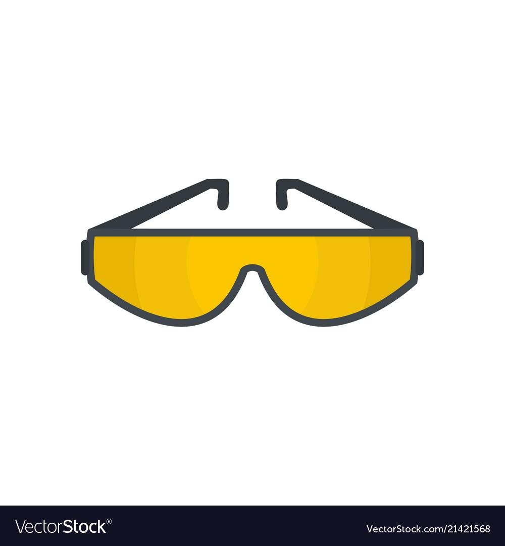 Sun glasses icon flat style