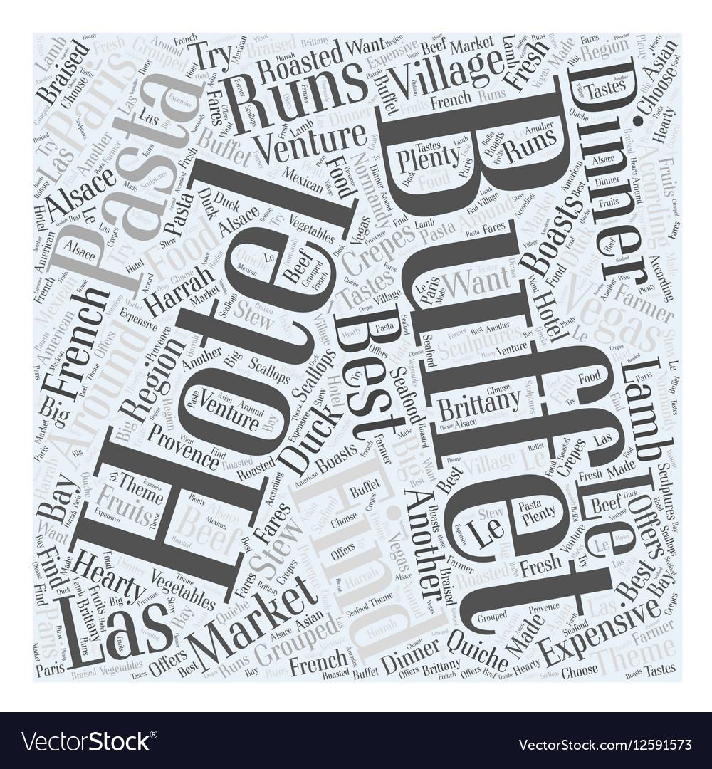Best Buffets in Las Vegas Word Cloud Concept vector image