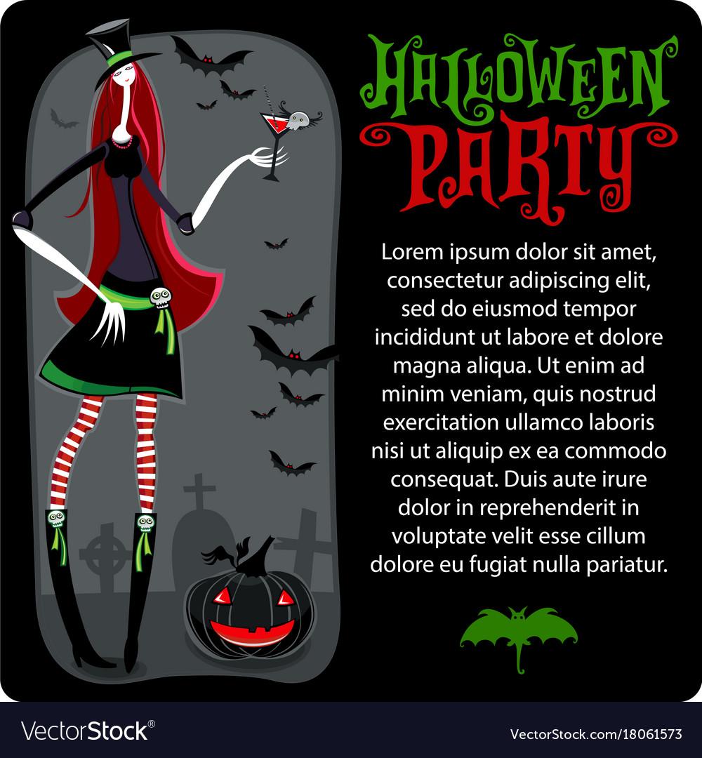 Halloween witch template halloween series