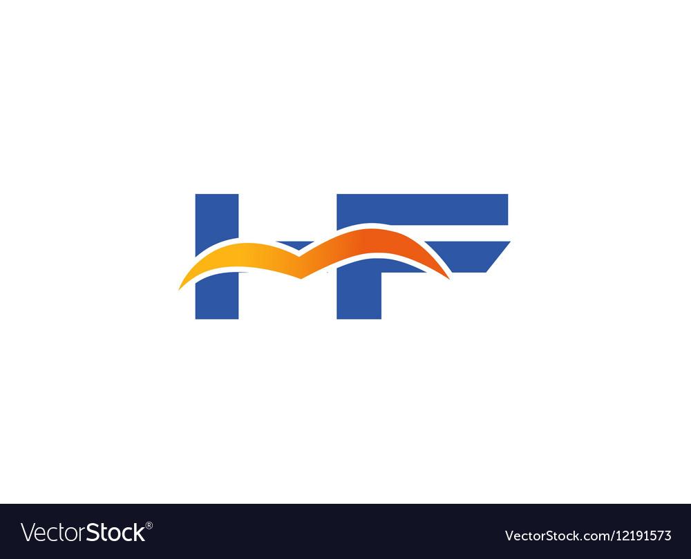 HF Logo Graphic Branding Letter Element vector image