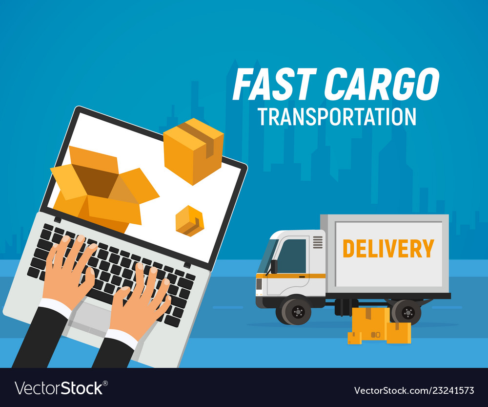 Online delivery service fast transportation of